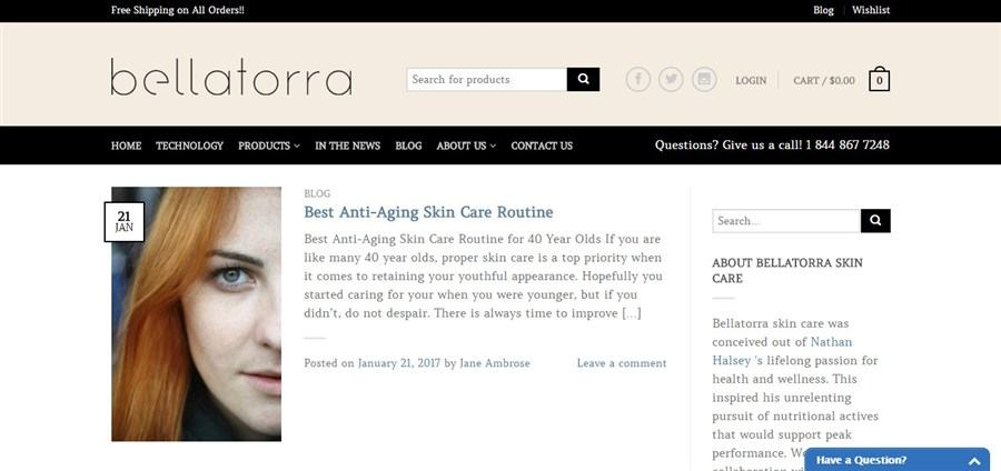 Bellatorra skin care Blog