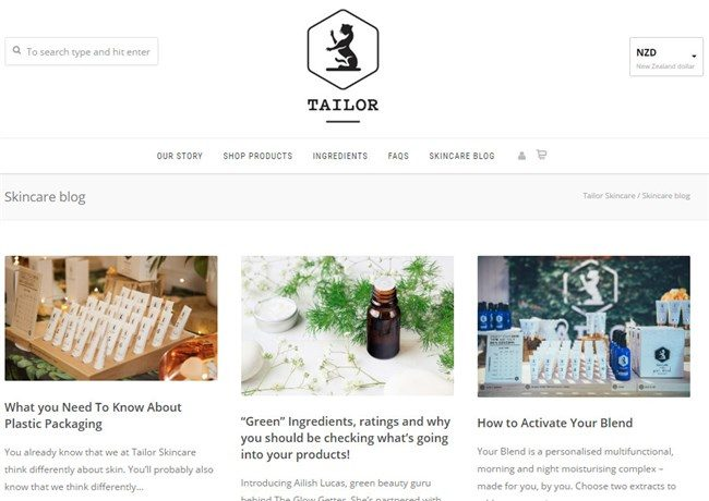 Tailor Skincare Blog