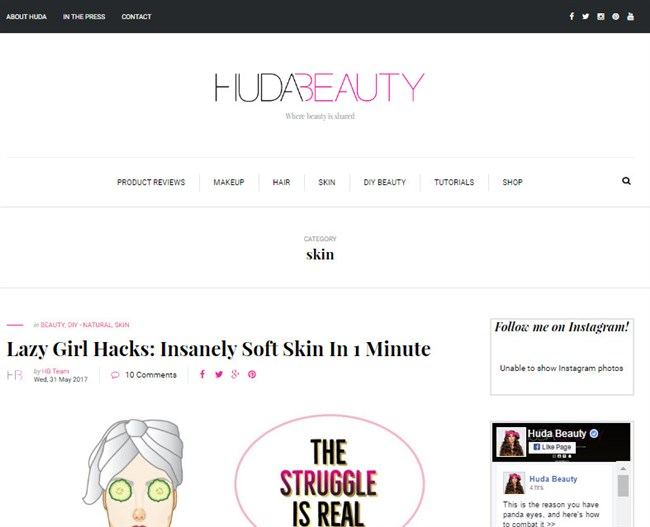 Huda Beauty Blog